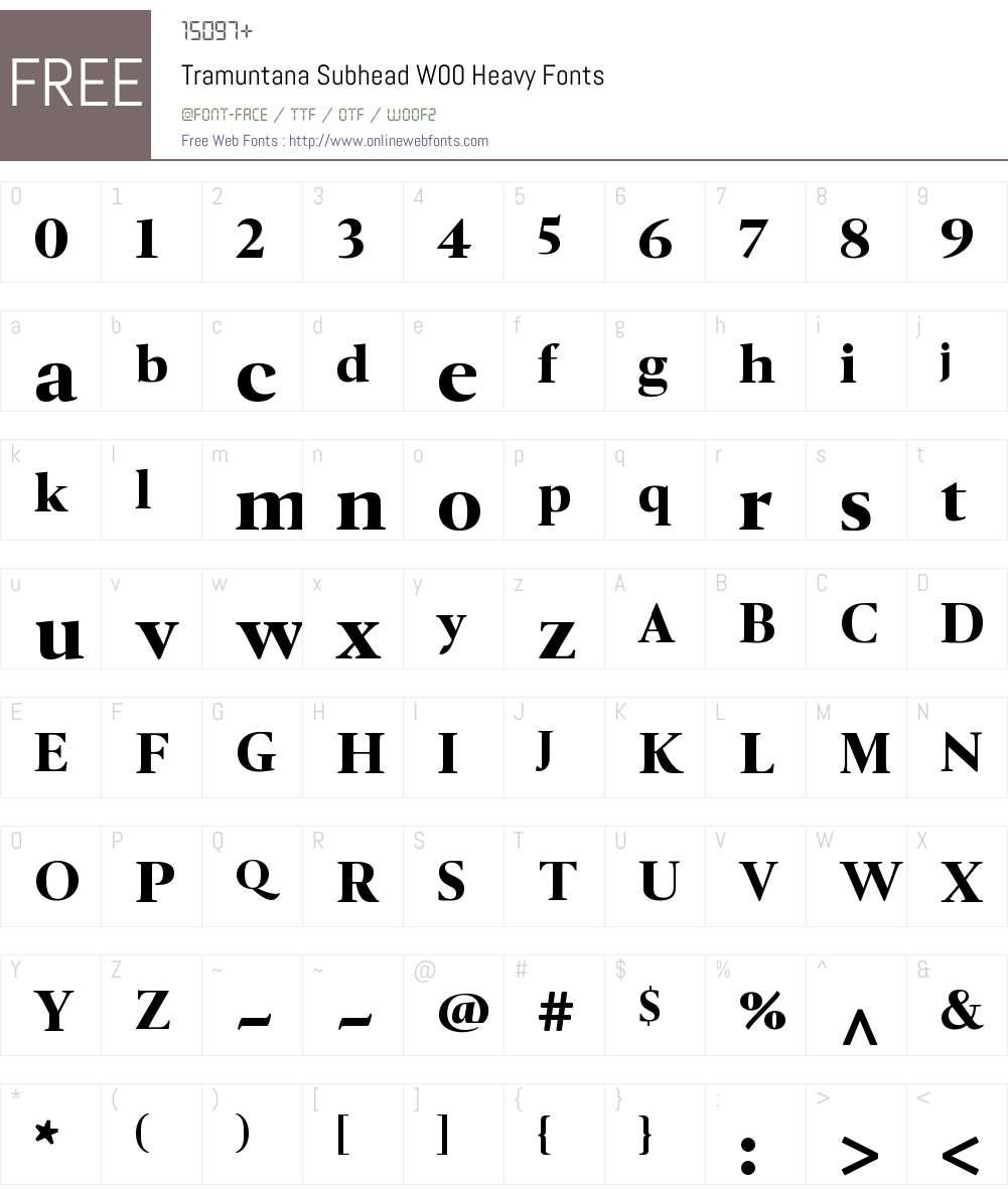 TramuntanaSubheadW00-Heavy Font Screenshots