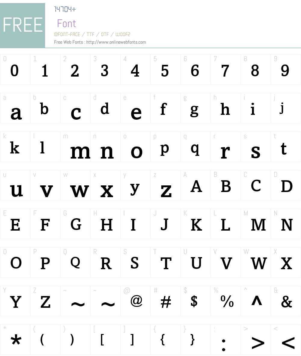 Amasis Font Screenshots