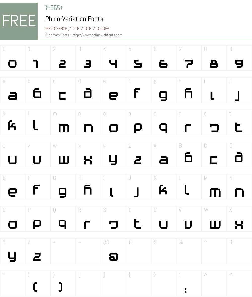 Phino Font Screenshots