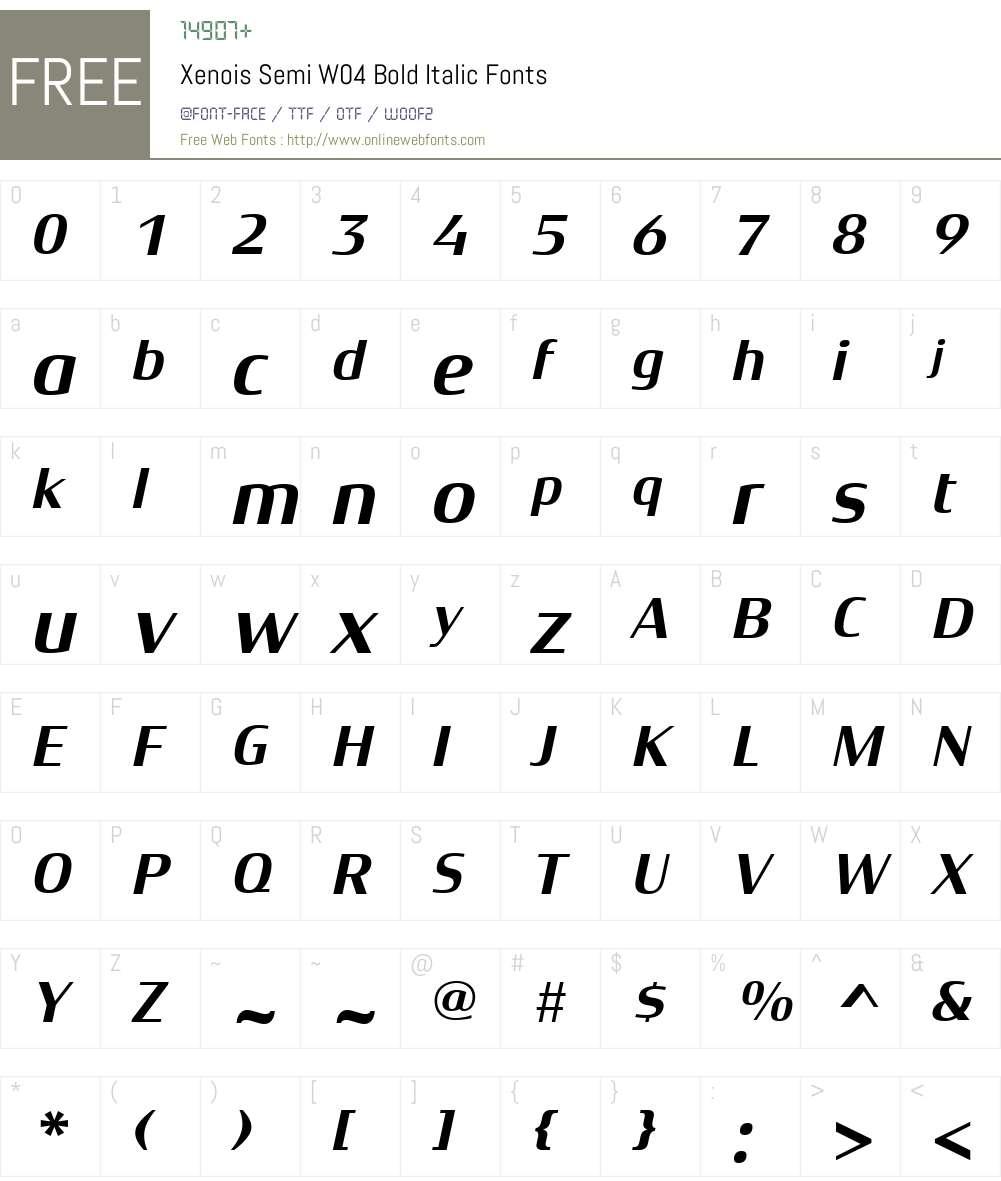Xenois Semi Font Screenshots