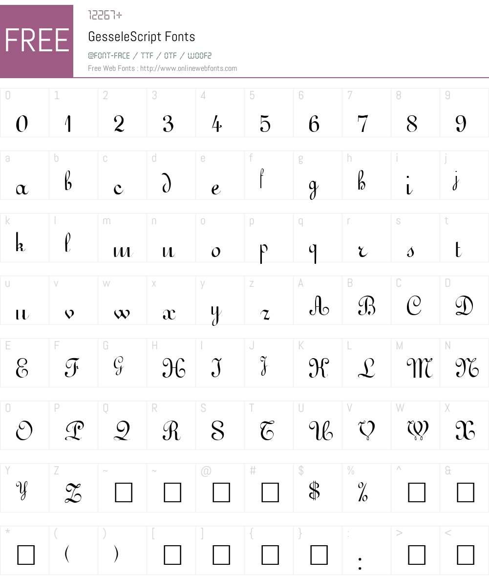 GesseleScript Font Screenshots