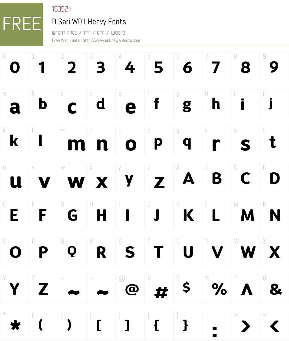 DSariW01-Heavy Font Screenshots