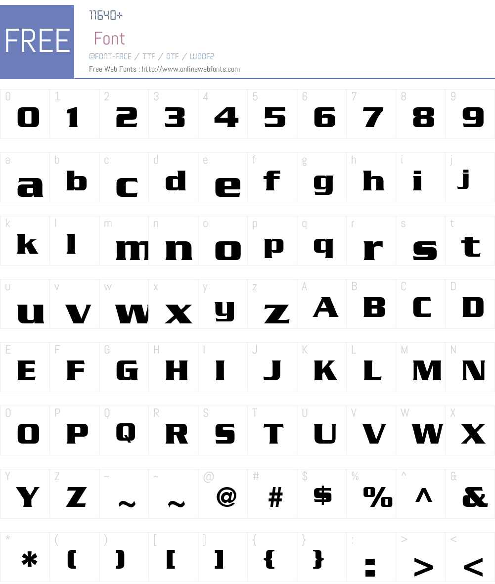 Enterprise Font Screenshots