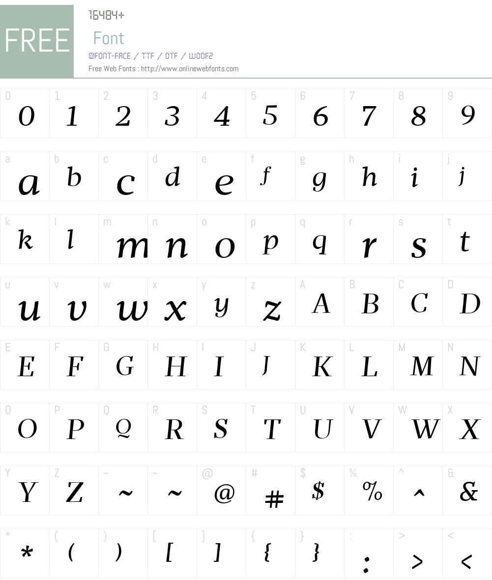 MafraW01-BookItalic Font Screenshots