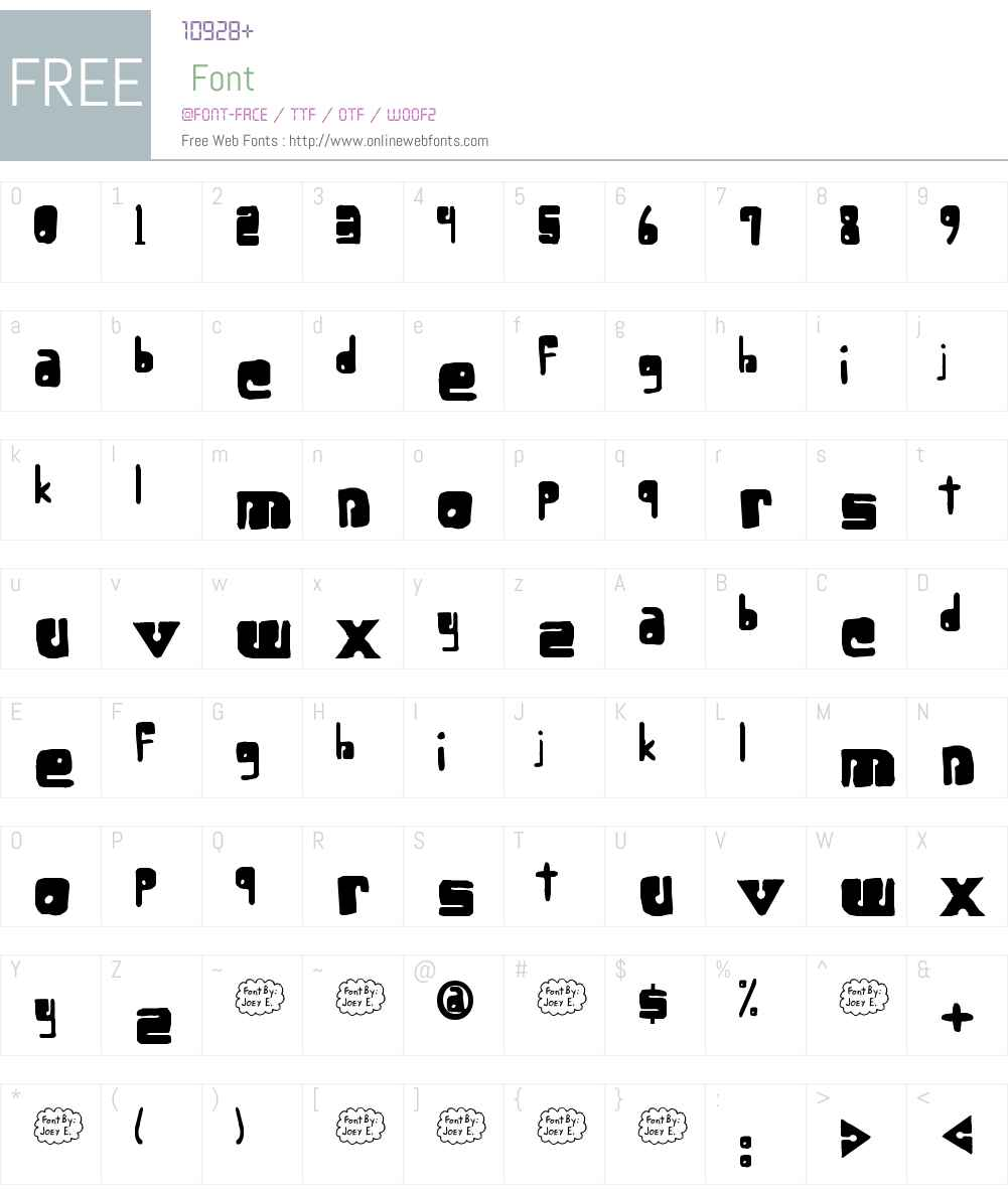 Lower-optic Fibercase Font Screenshots