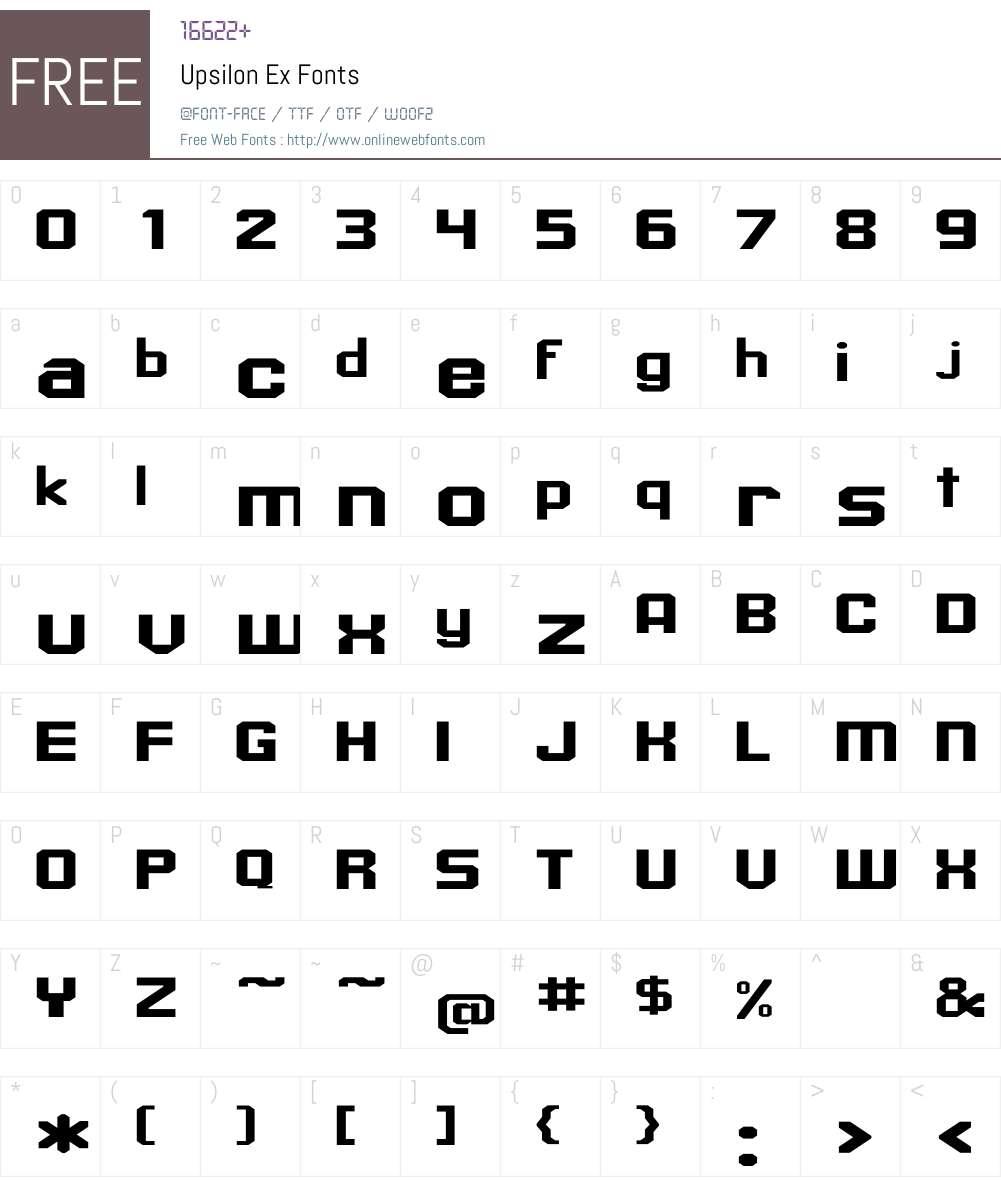 Upsilon Ex Font Screenshots