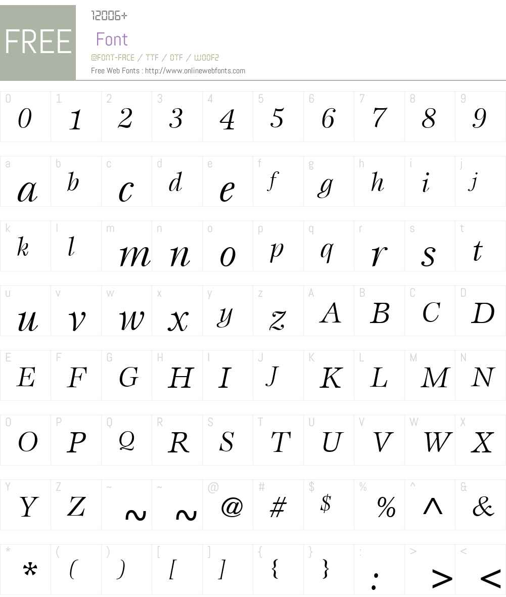 ITCEspritW01-BookItalic Font Screenshots