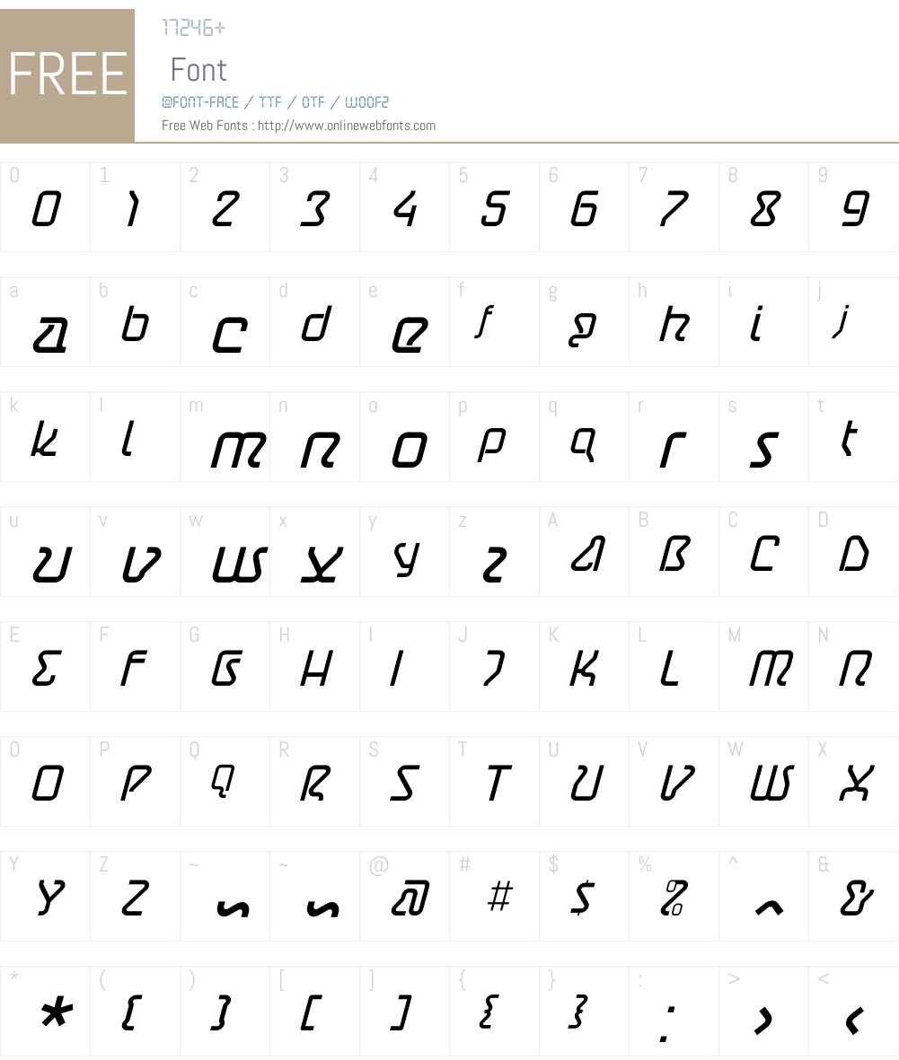 AstroLight Oblique Font Screenshots