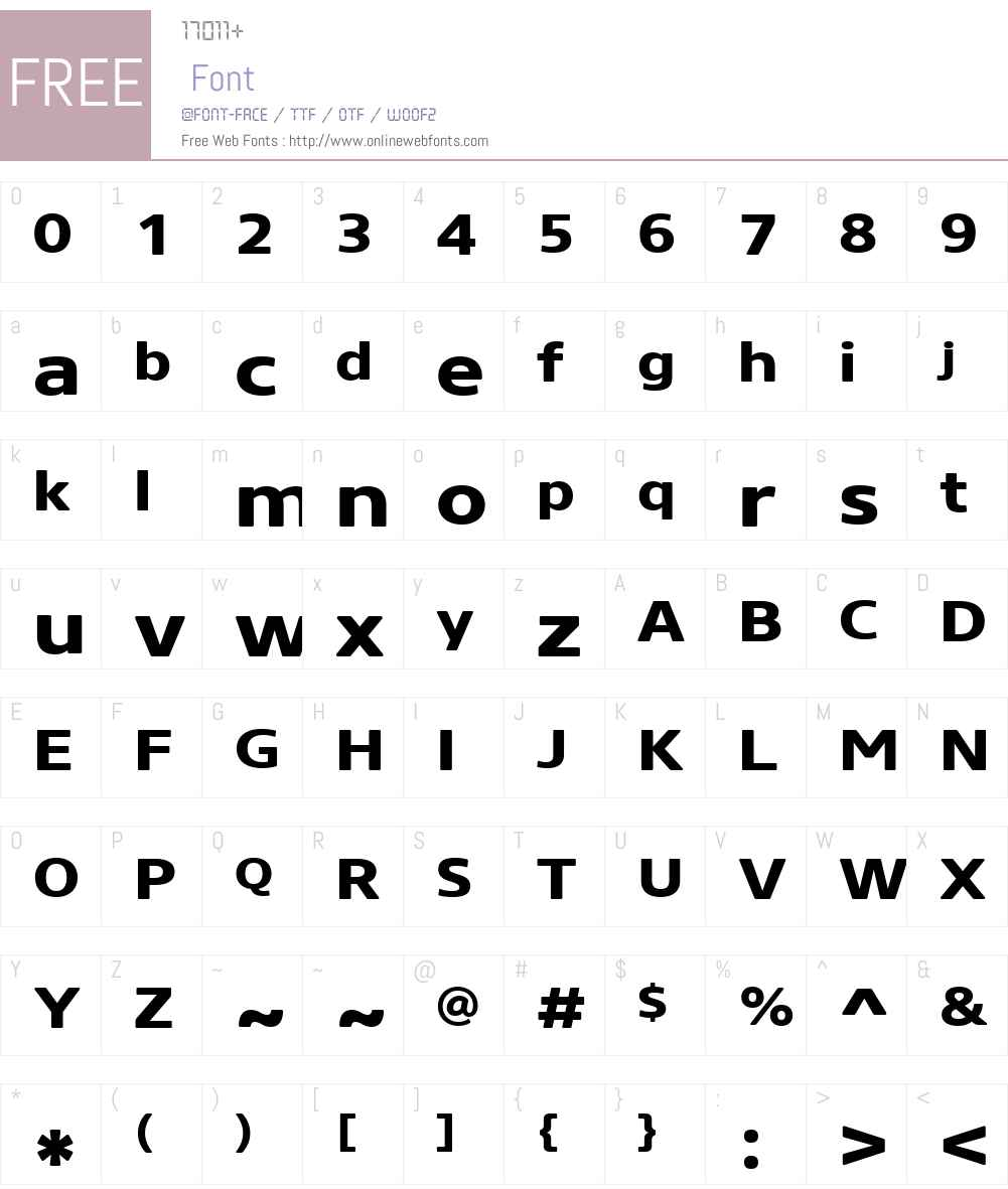 CoreSansNRW01-73XXBold Font Screenshots