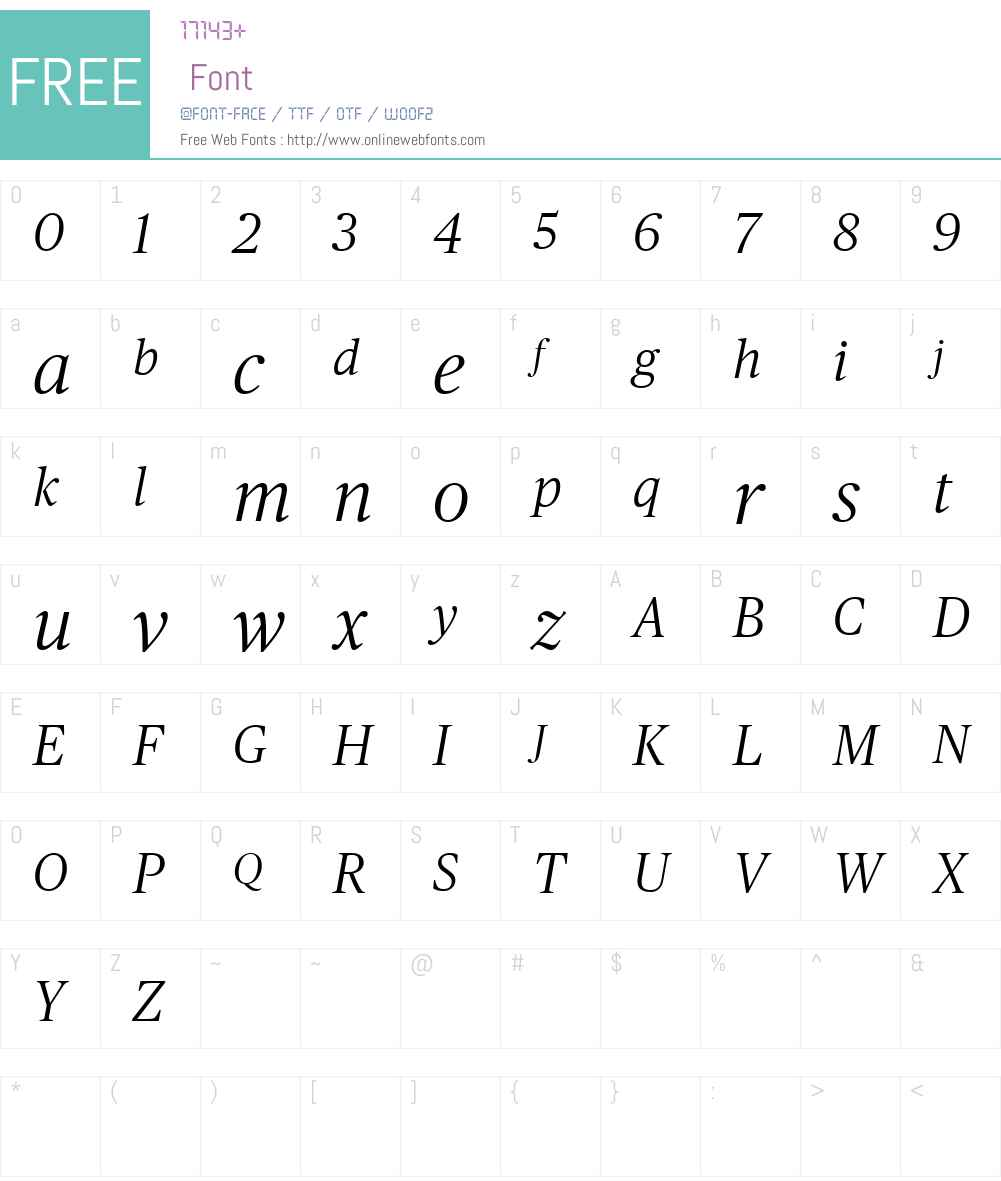 Publico Headline Web Light Font Screenshots