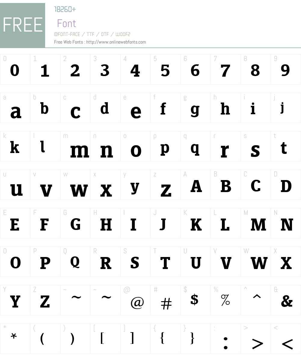 SiseriffLTW01-Semibold Font Screenshots