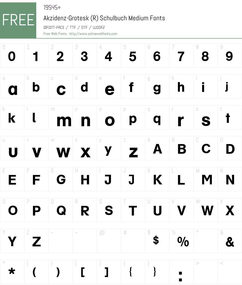 AG Schulbuch BQ Font Screenshots