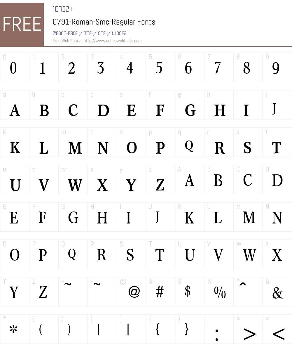 C791-Roman-Smc Font Screenshots