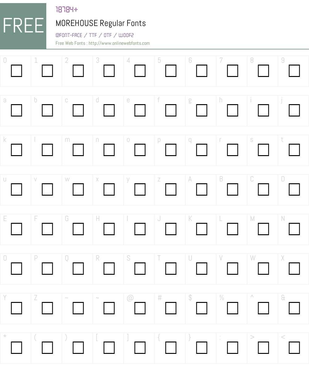 MOREHOUSE Font Screenshots