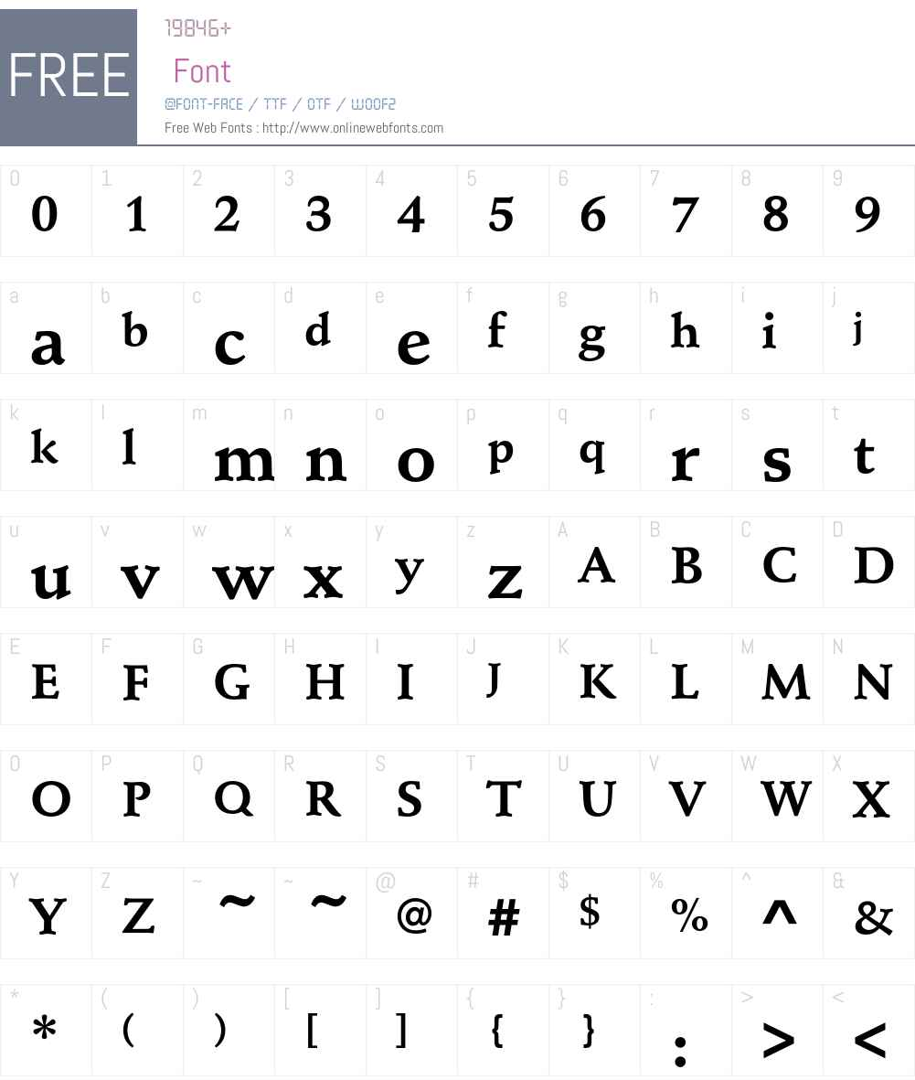 SchneidlerEF-Bold Font Screenshots