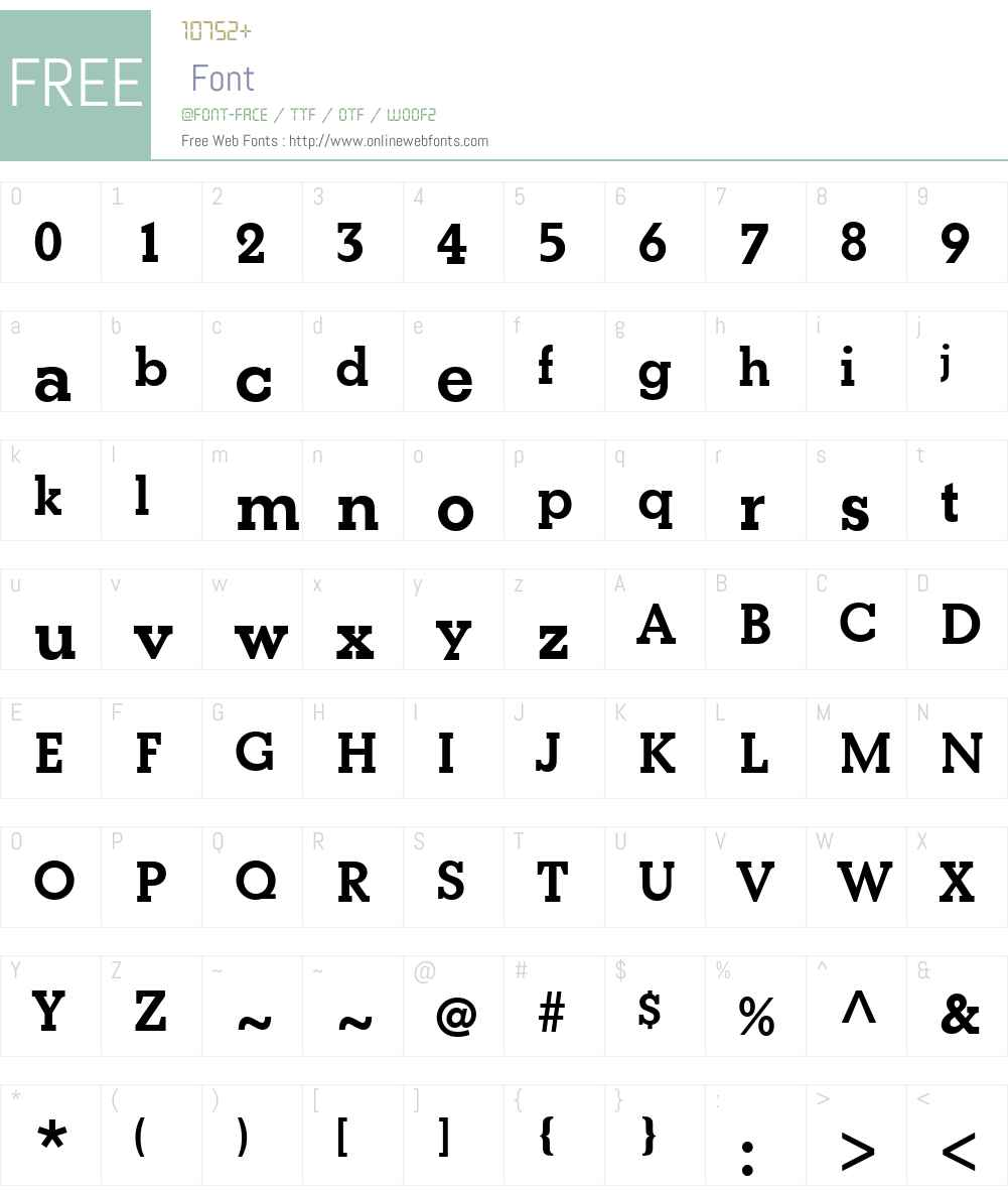 BetonW01-Bold Font Screenshots