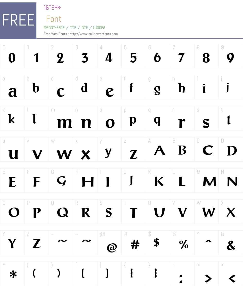 ScriptualeW01-Bold Font Screenshots