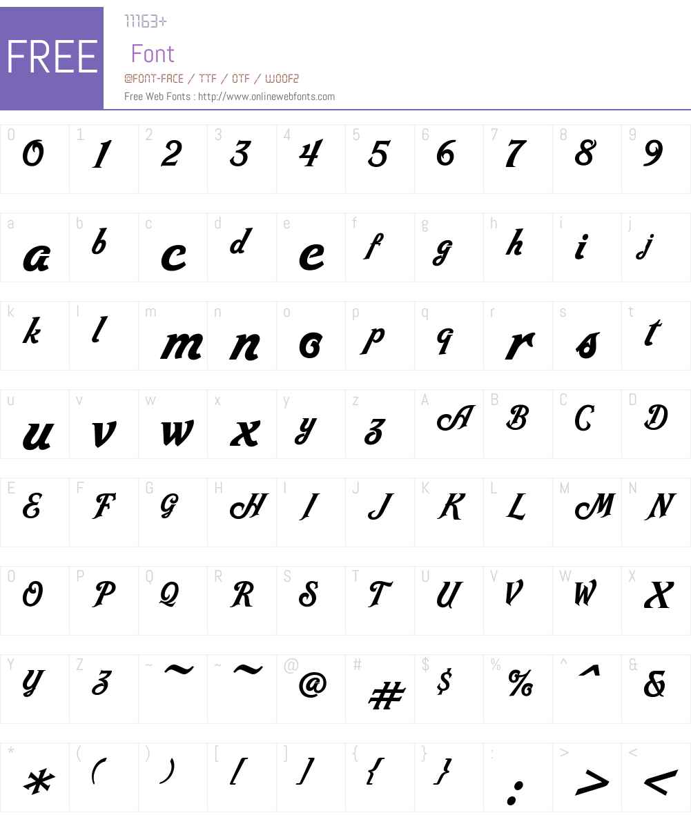 LebbadScriptW00-Regular Font Screenshots
