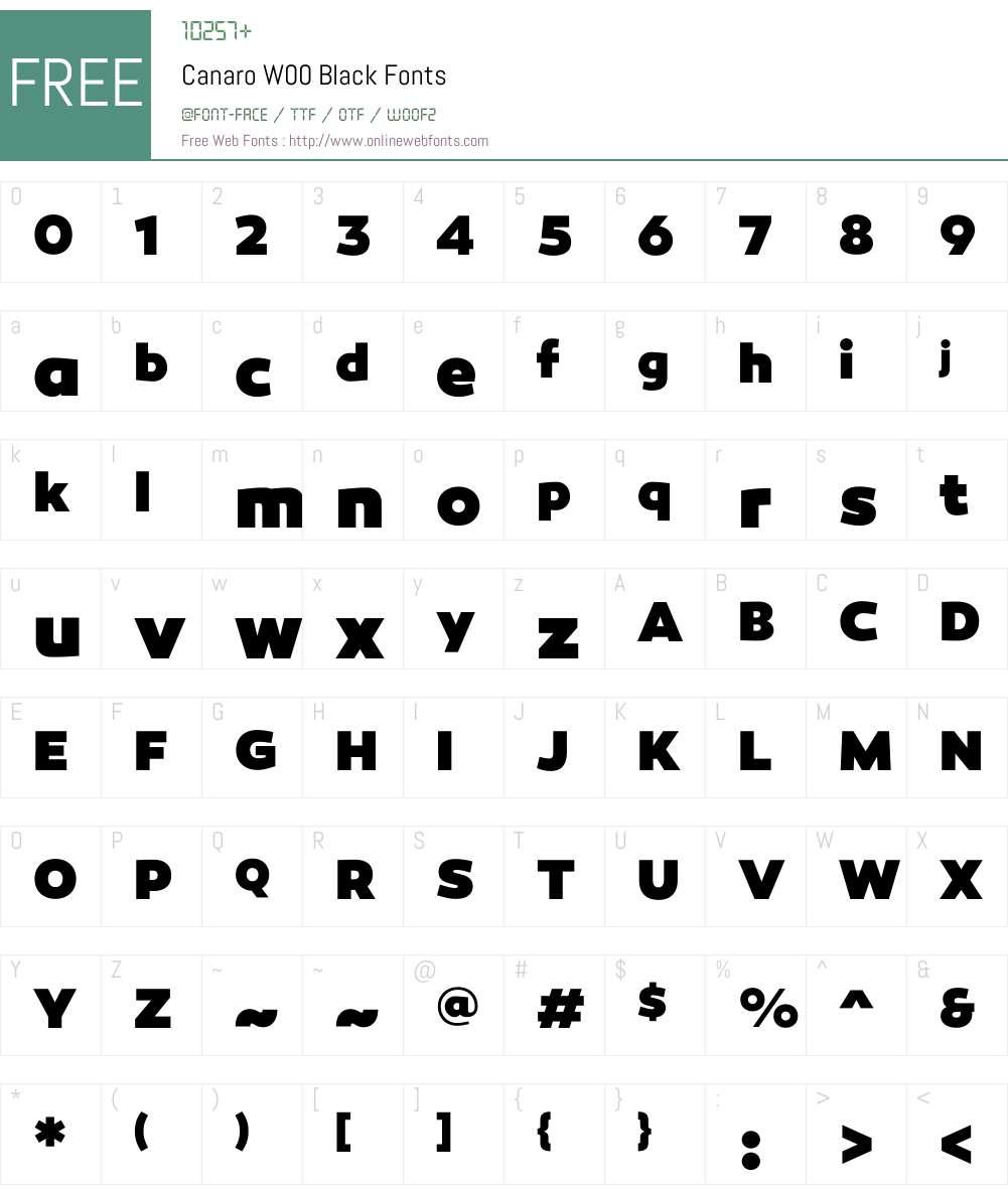 CanaroW00-Black Font Screenshots