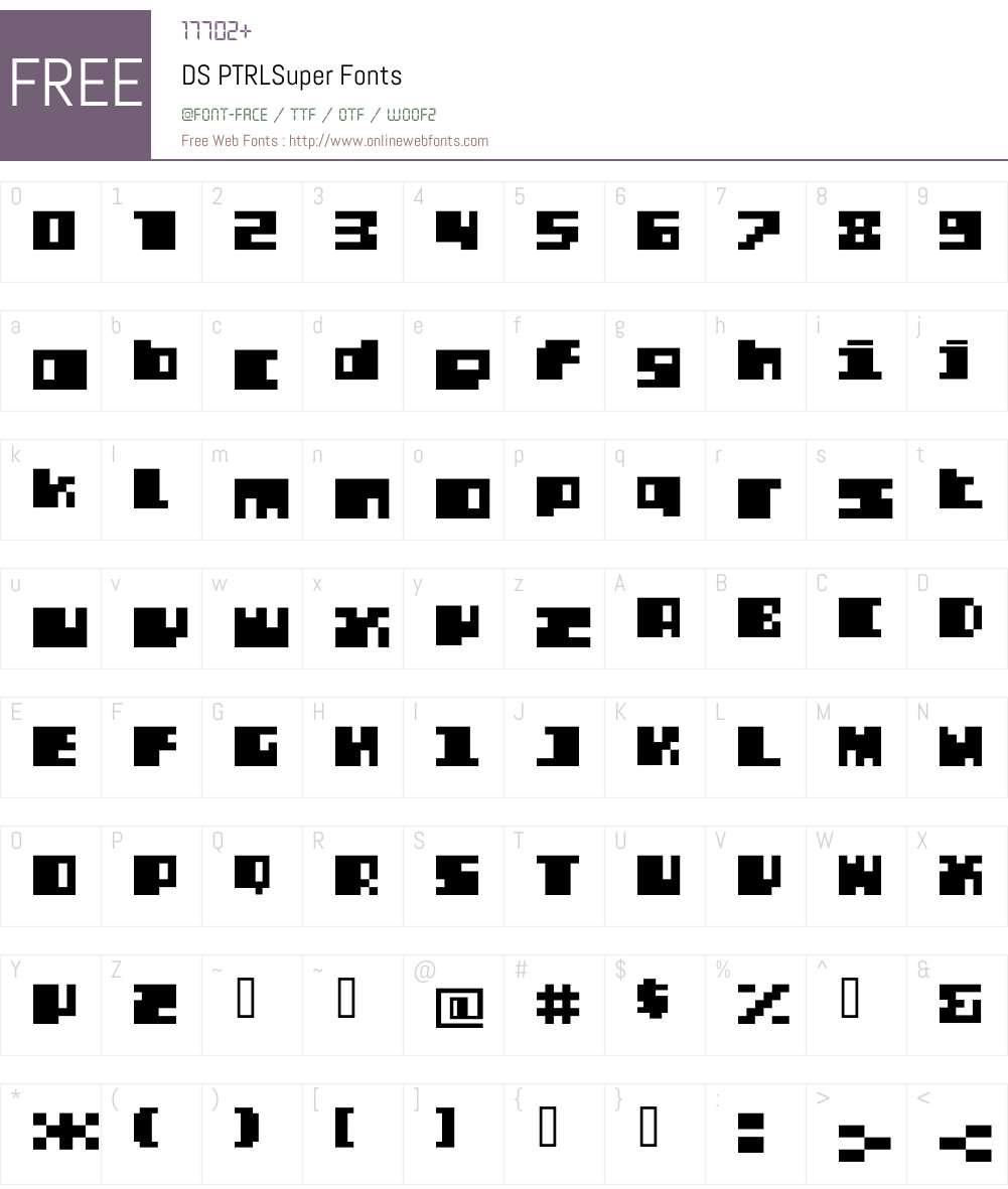 DS PTRLSuper Font Screenshots