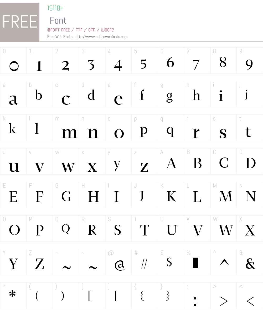 Fazeta-MediumDisplay Font Screenshots