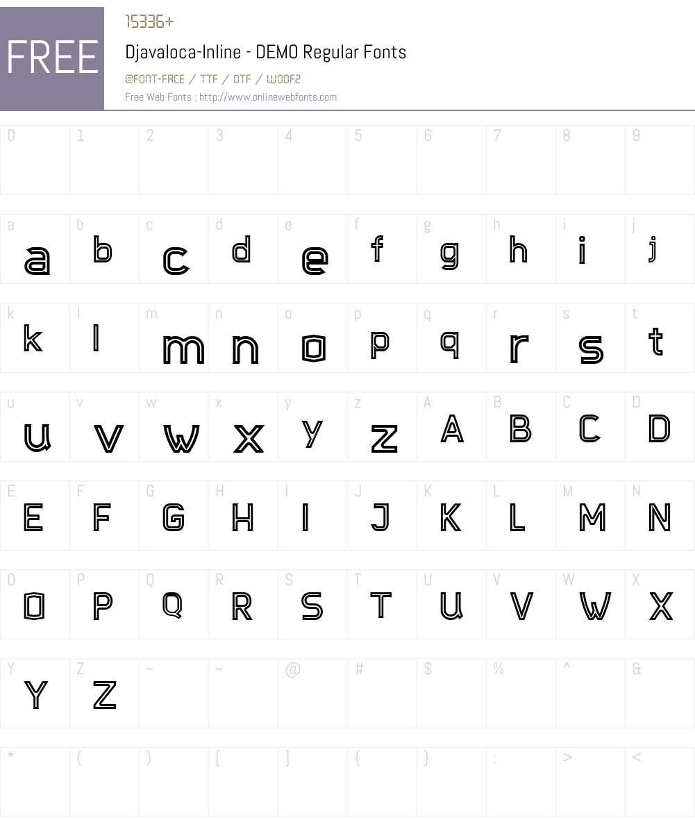 Djavaloca-Inline - DEMO Font Screenshots