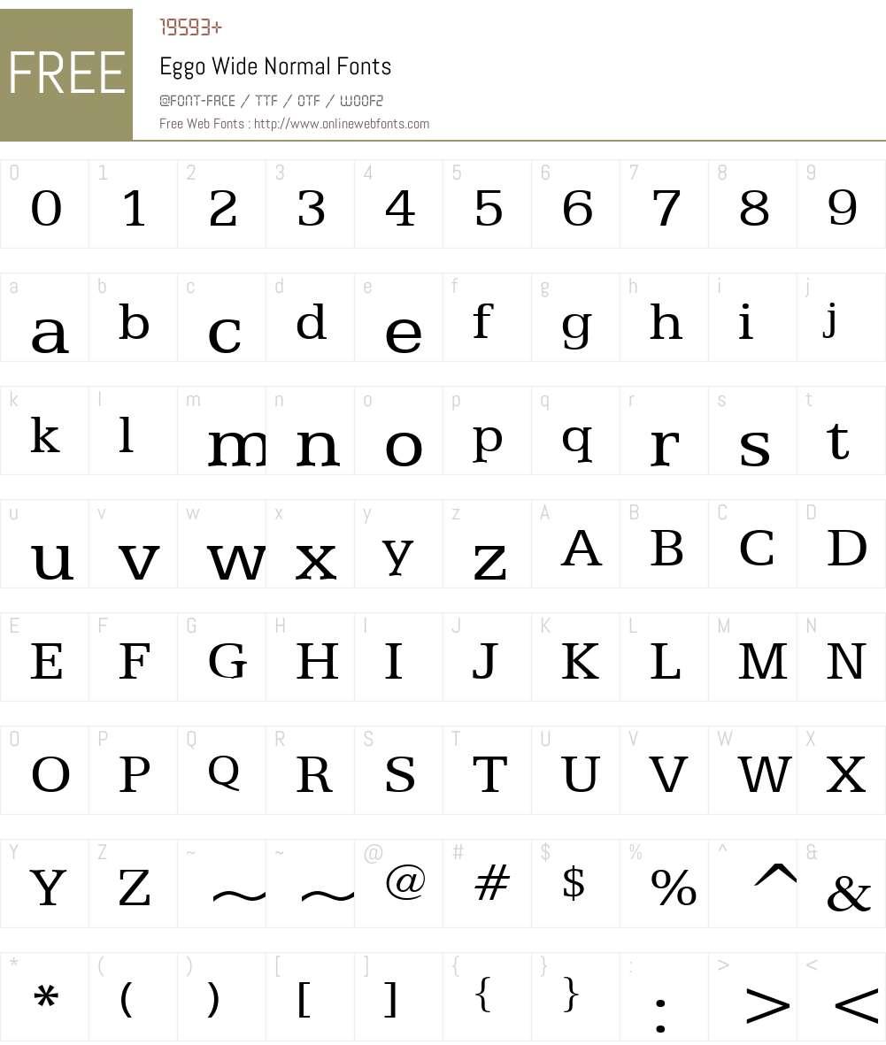 Eggo Wide Font Screenshots