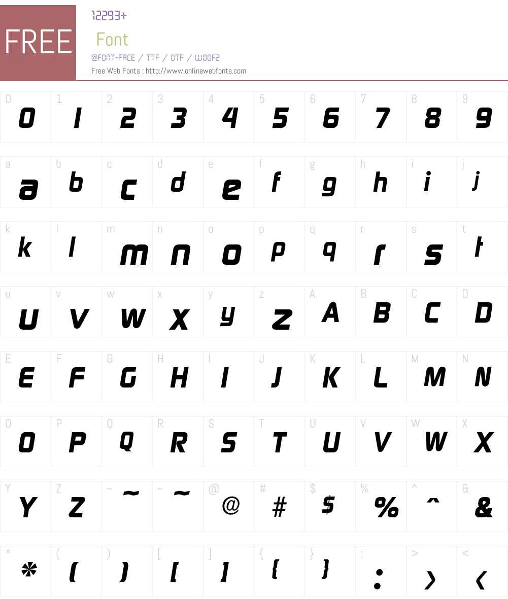 Digital-BoldIta Font Screenshots