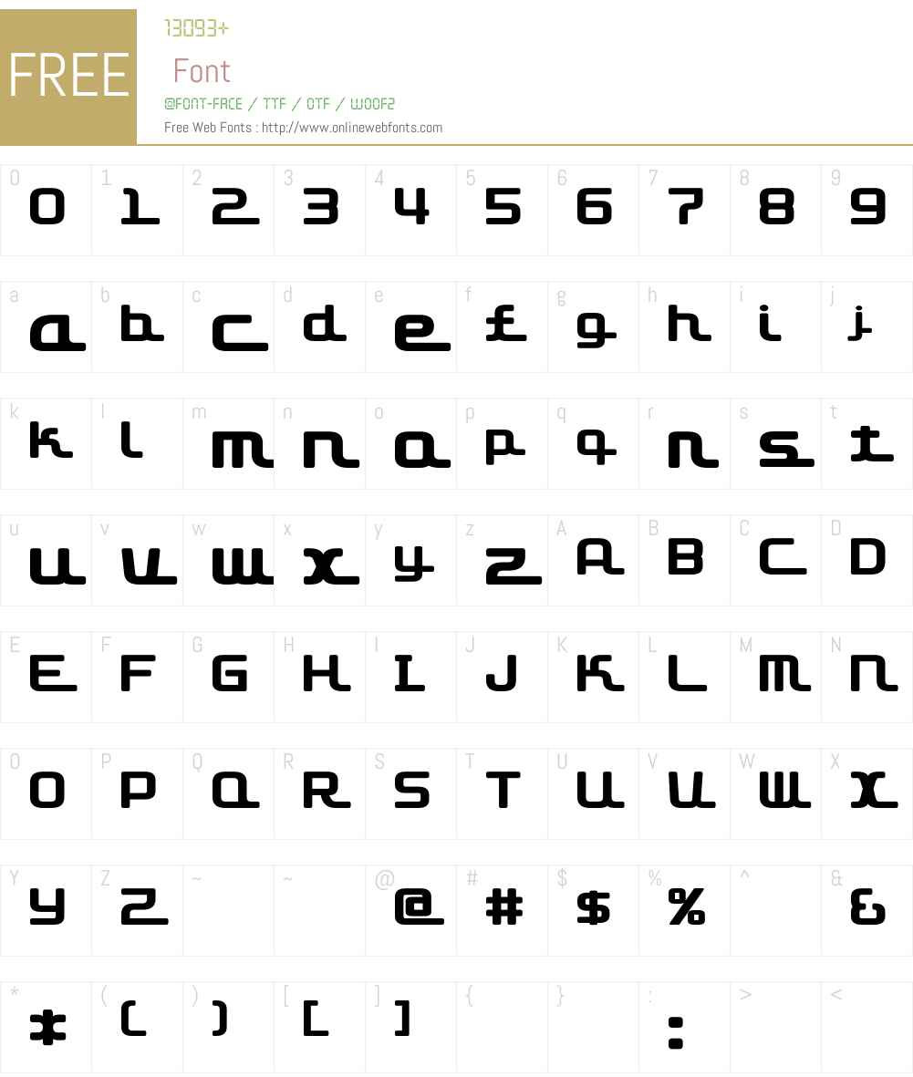 D3 Roadsterism Font Screenshots