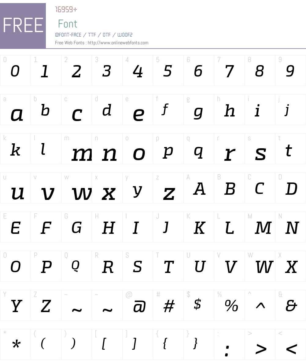 ExoSlabW00-MediumItalic Font Screenshots