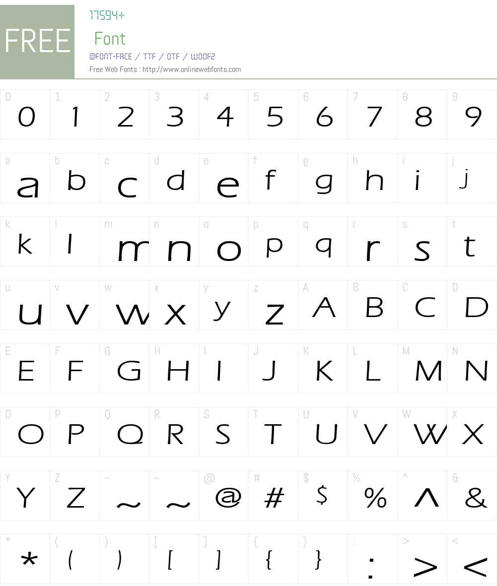 Eric Lite Extended Font Screenshots