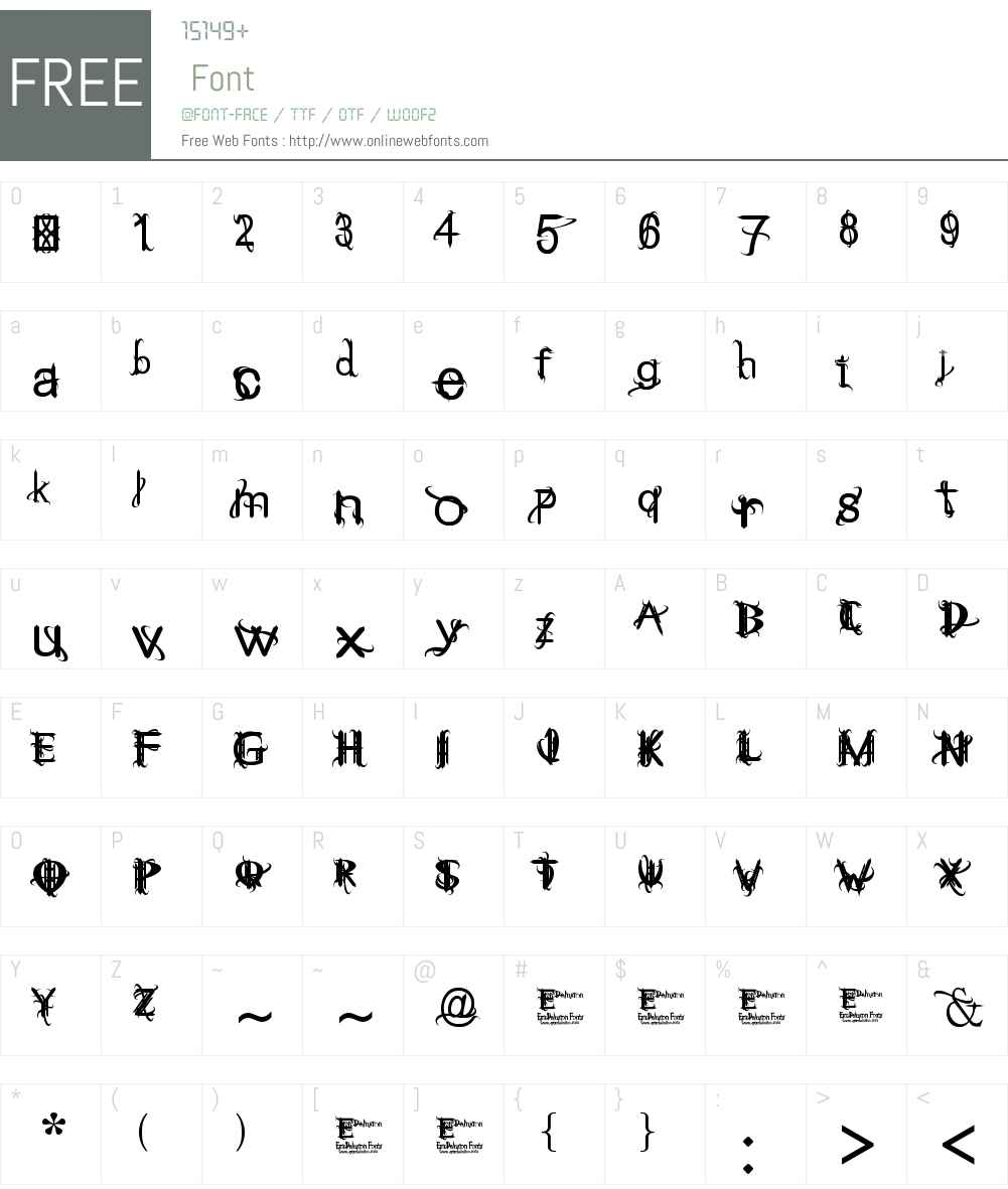 THINK ME WICKED Font Screenshots