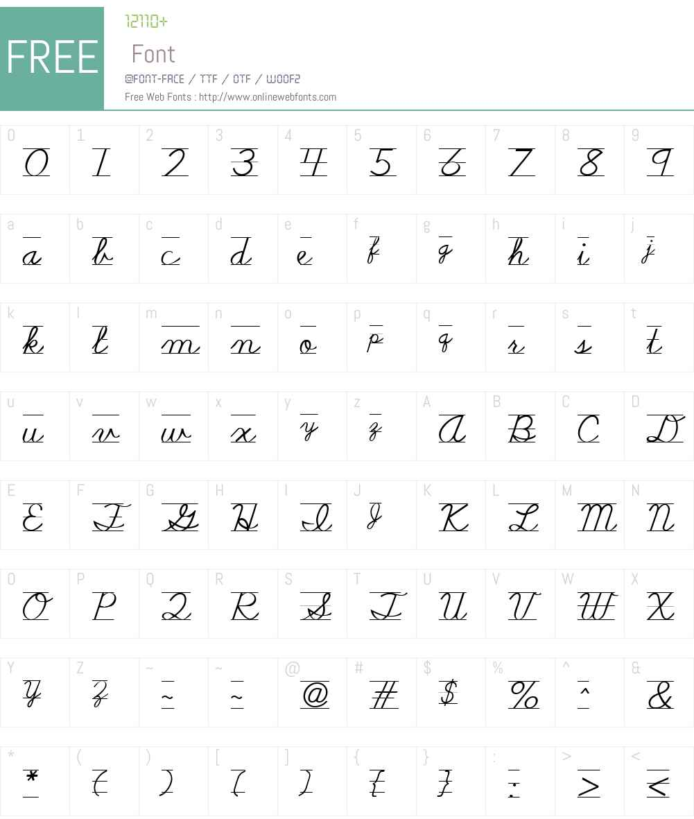 SchoolScriptW01-Lined Font Screenshots