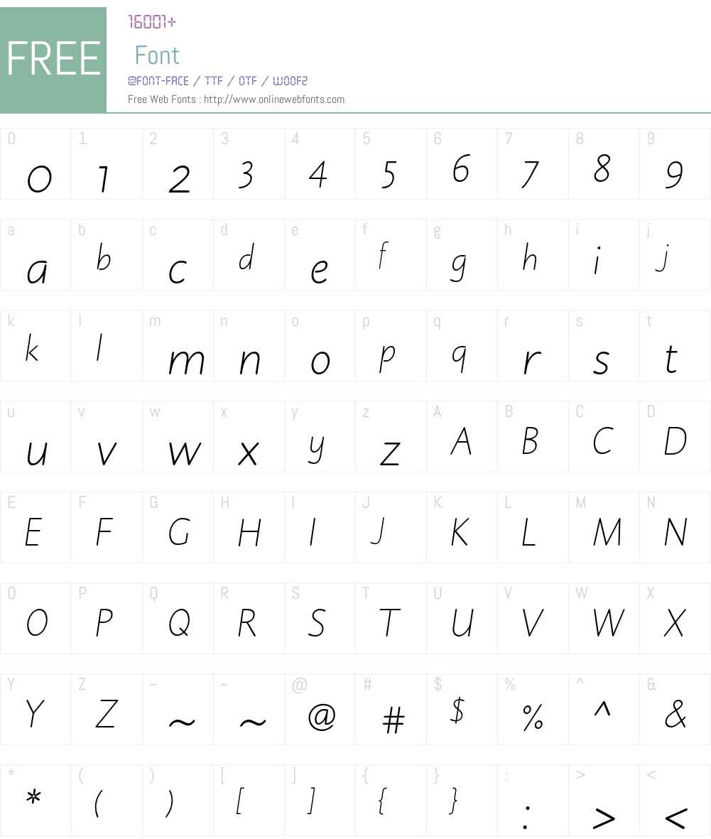 Julius Primary Std Font Screenshots