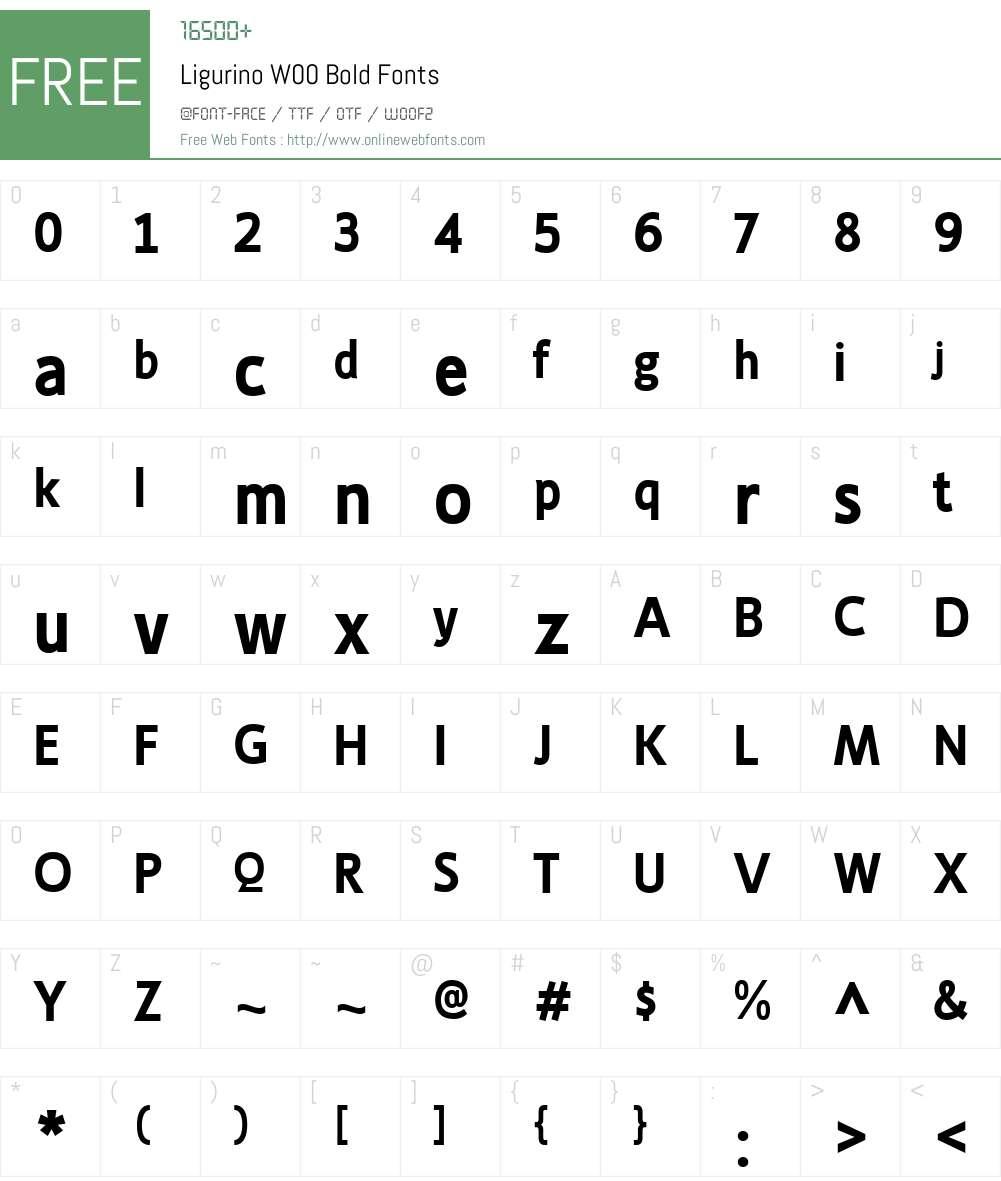 LigurinoW00-Bold Font Screenshots