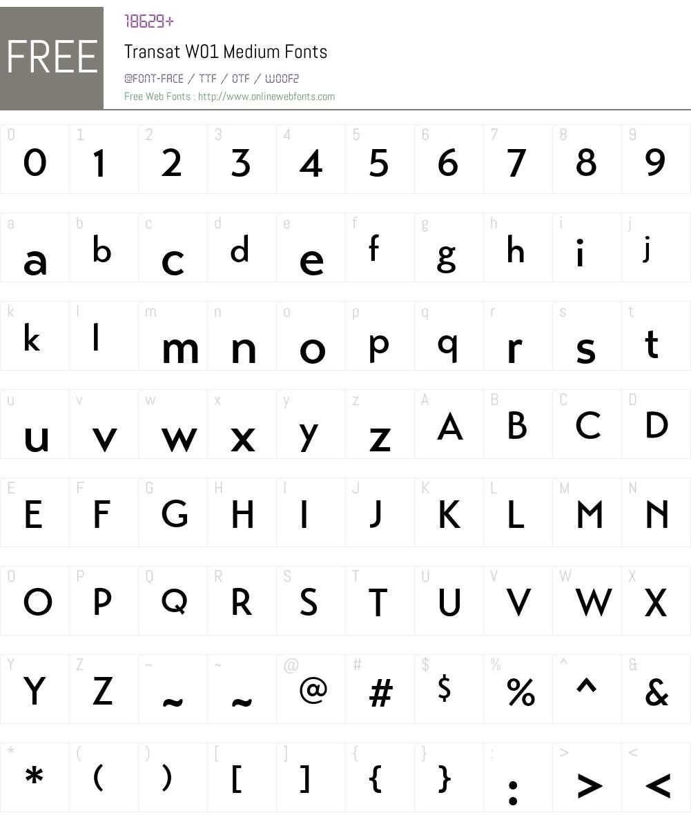 TransatW01-Medium Font Screenshots