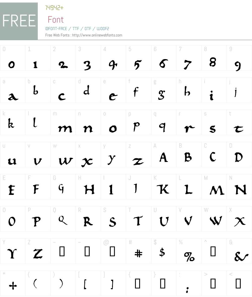 825 Karolus Font Screenshots