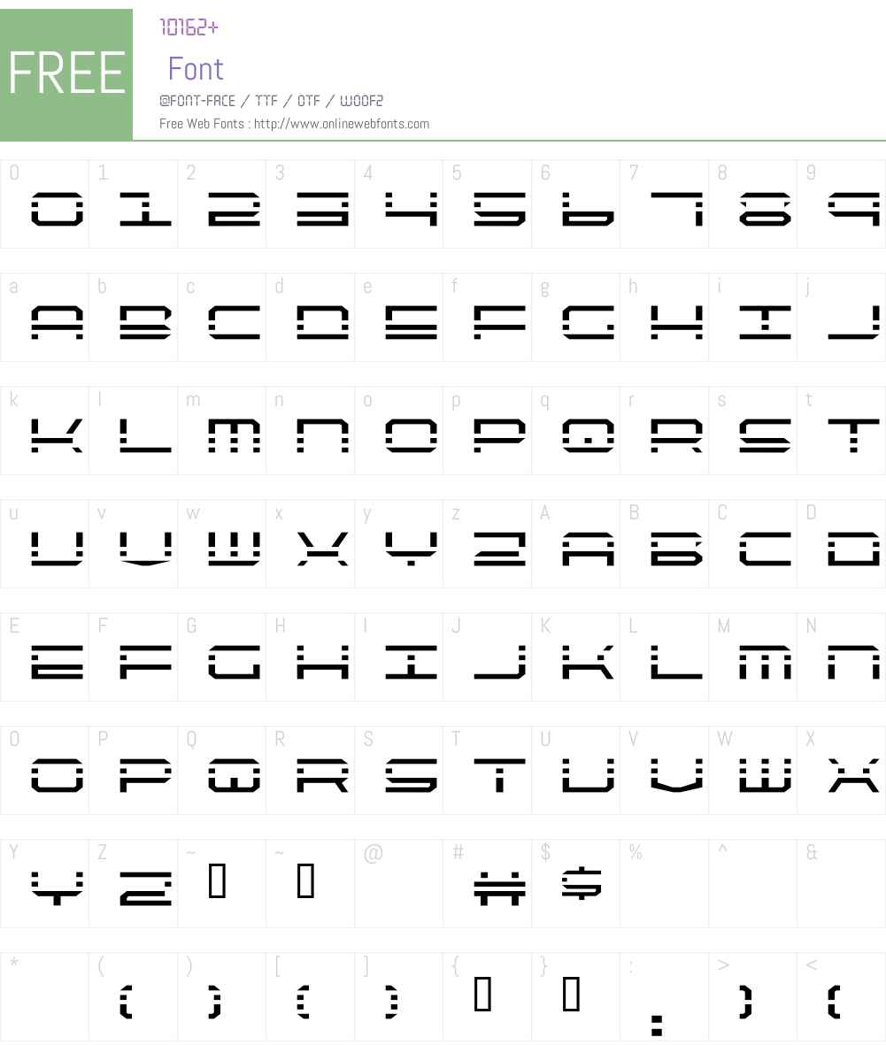 QuickQuick Font Screenshots