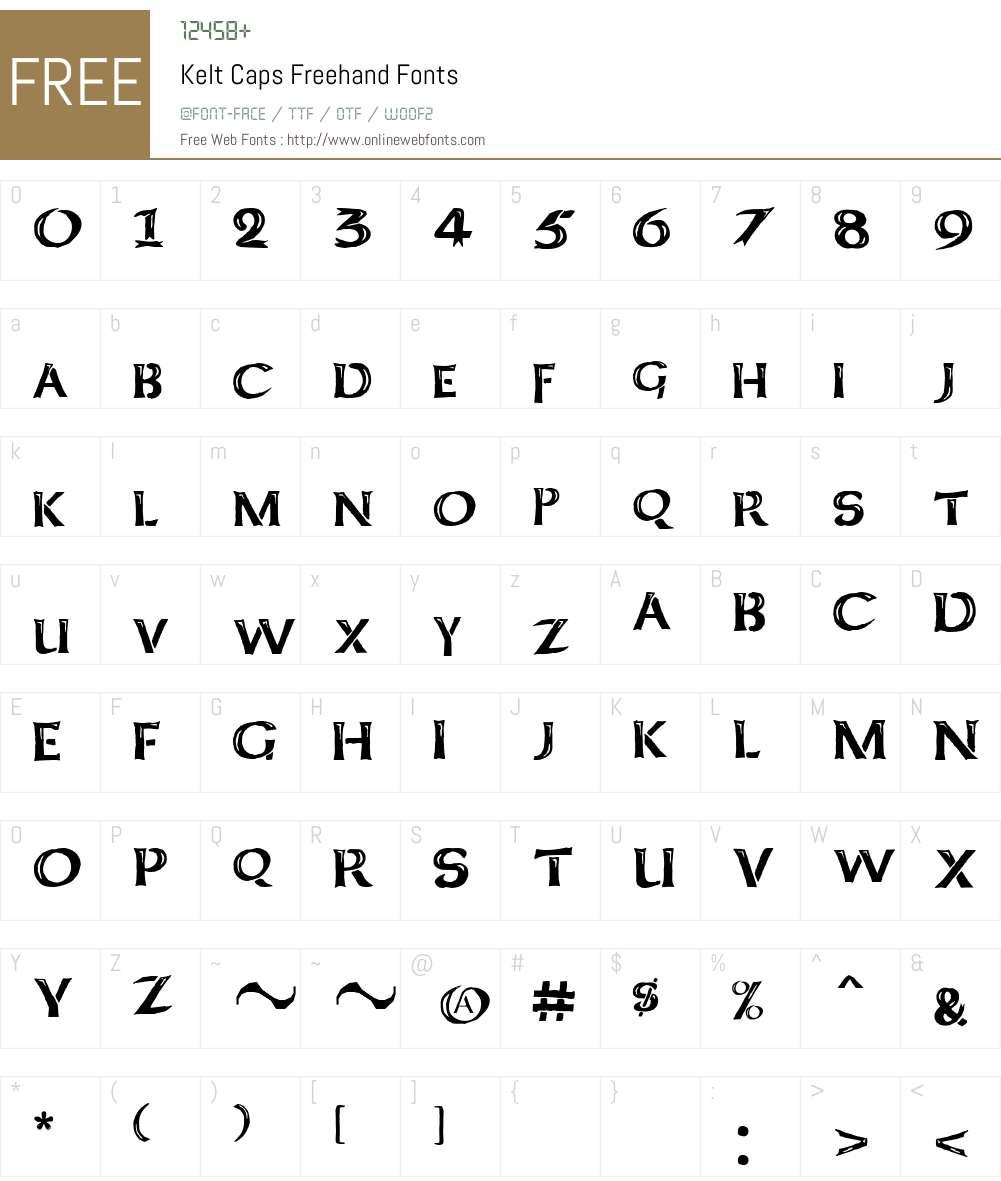 Kelt Caps Freehand Font Screenshots