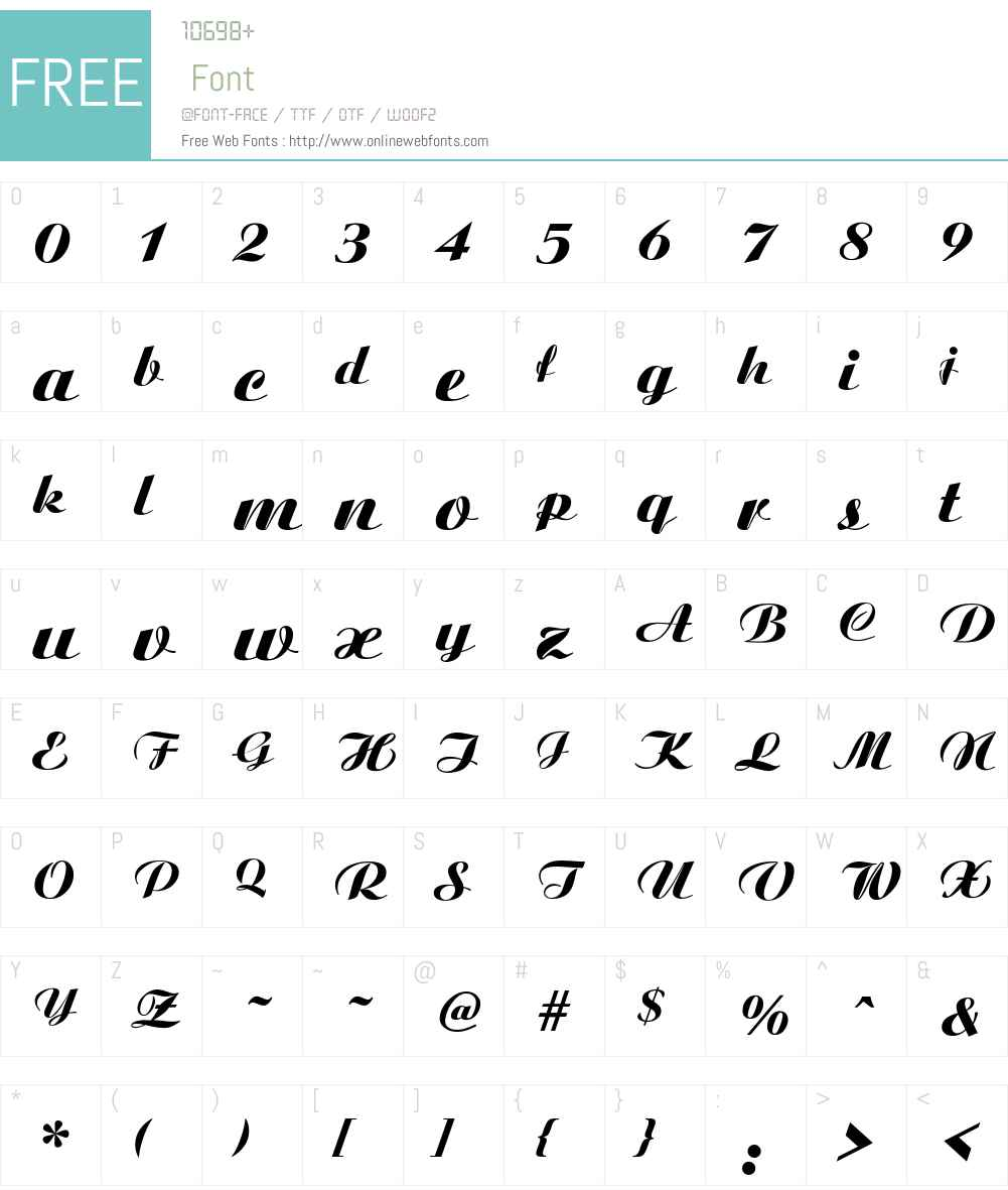 Ariston-ExtraBold-Italic Font Screenshots