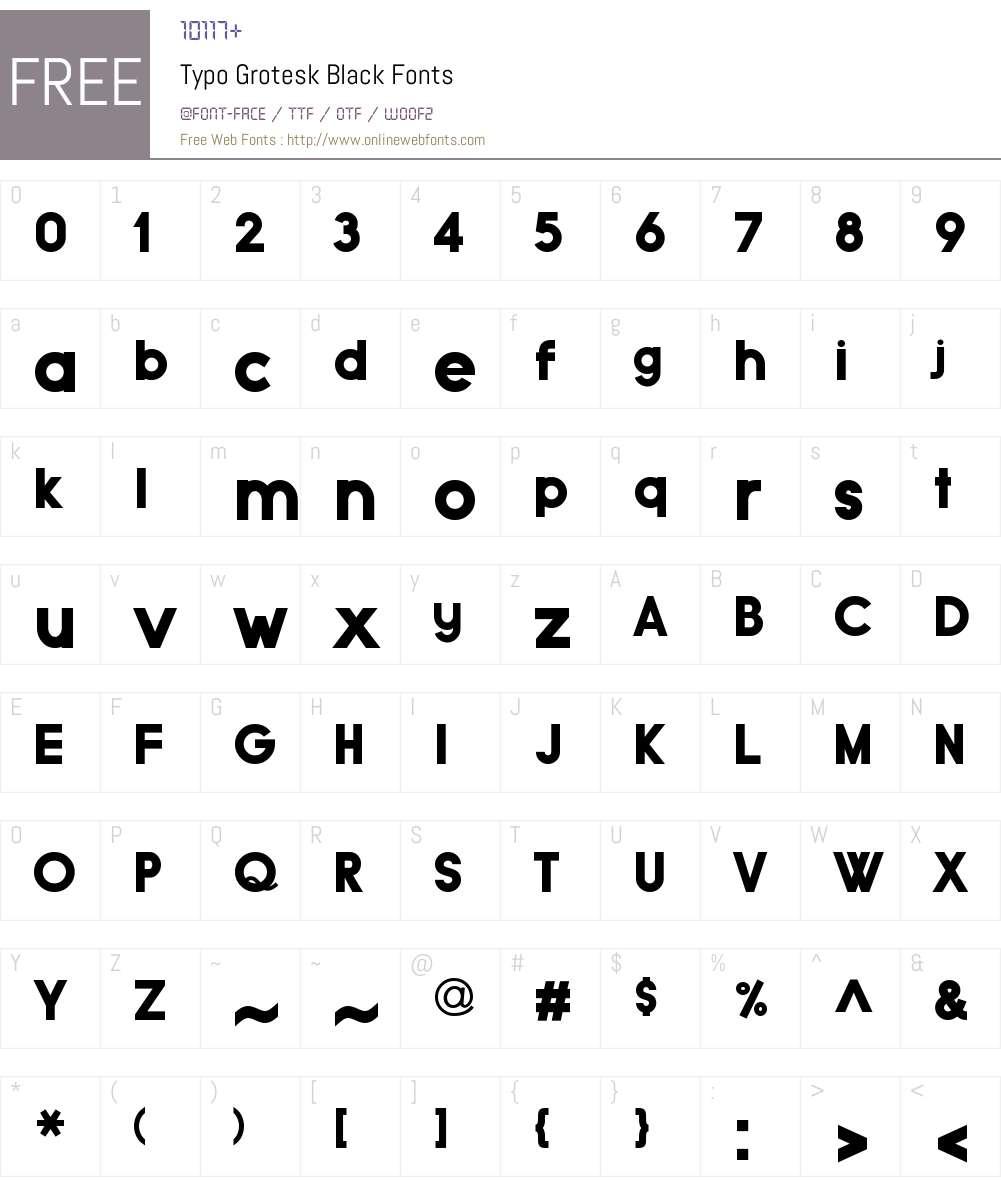 Typo Grotesk Black Font Screenshots