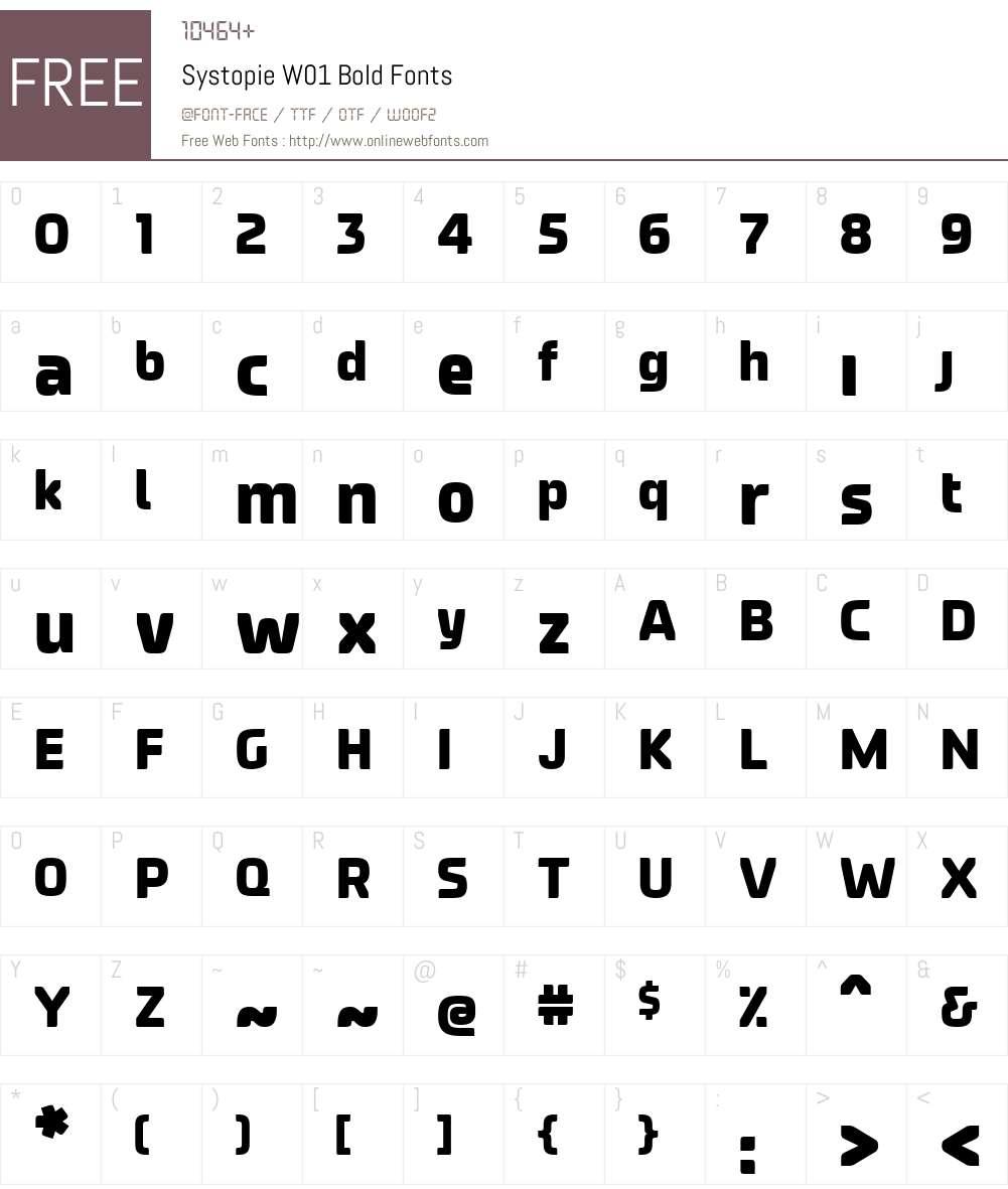 SystopieW01-Bold Font Screenshots