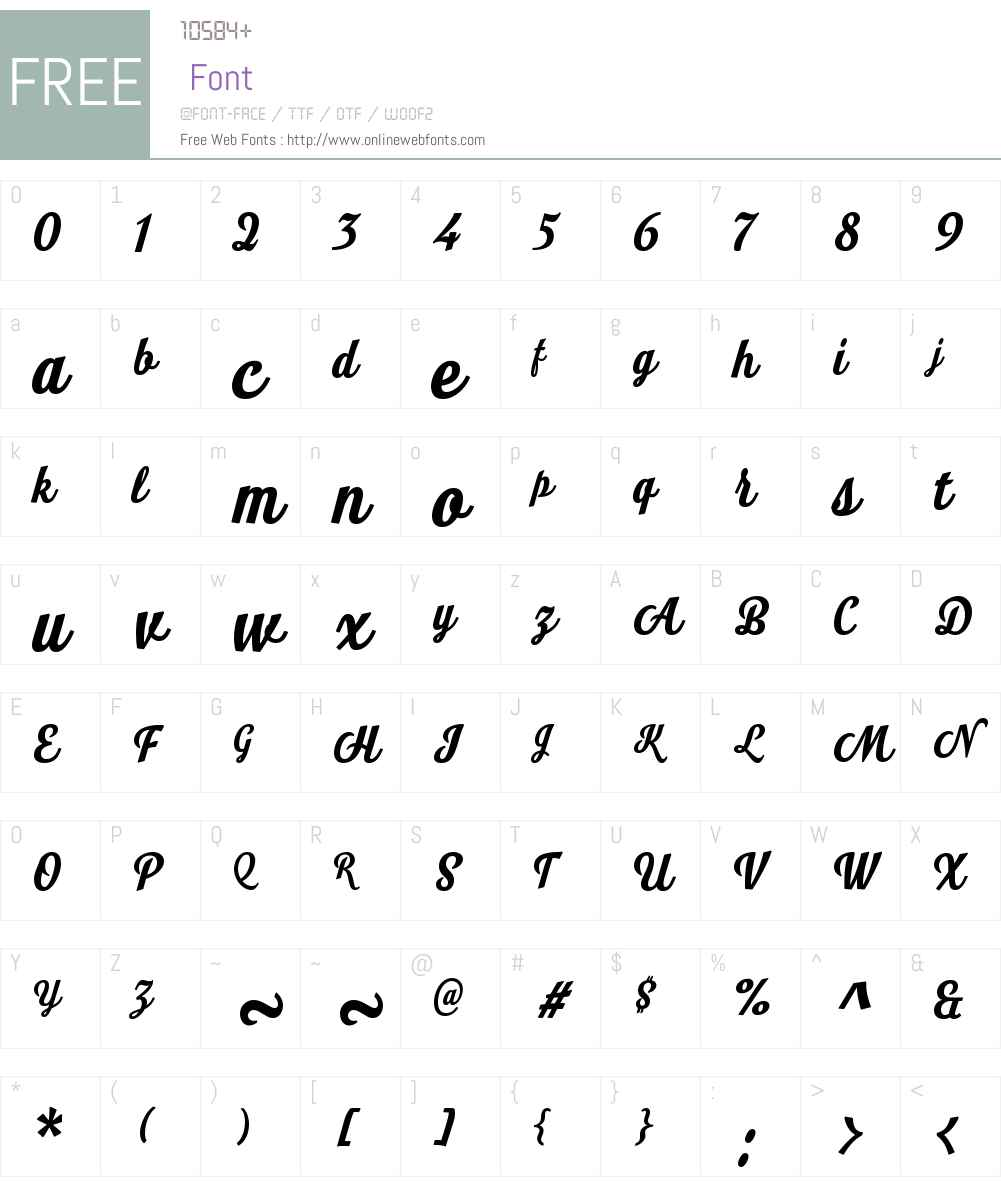 LookScriptW01-Bold Font Screenshots
