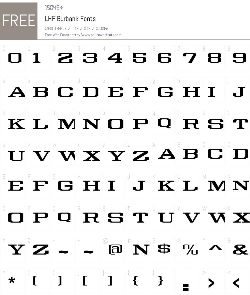 Download LHF Burbank 000.000 Fonts Free Download - OnlineWebFonts.COM