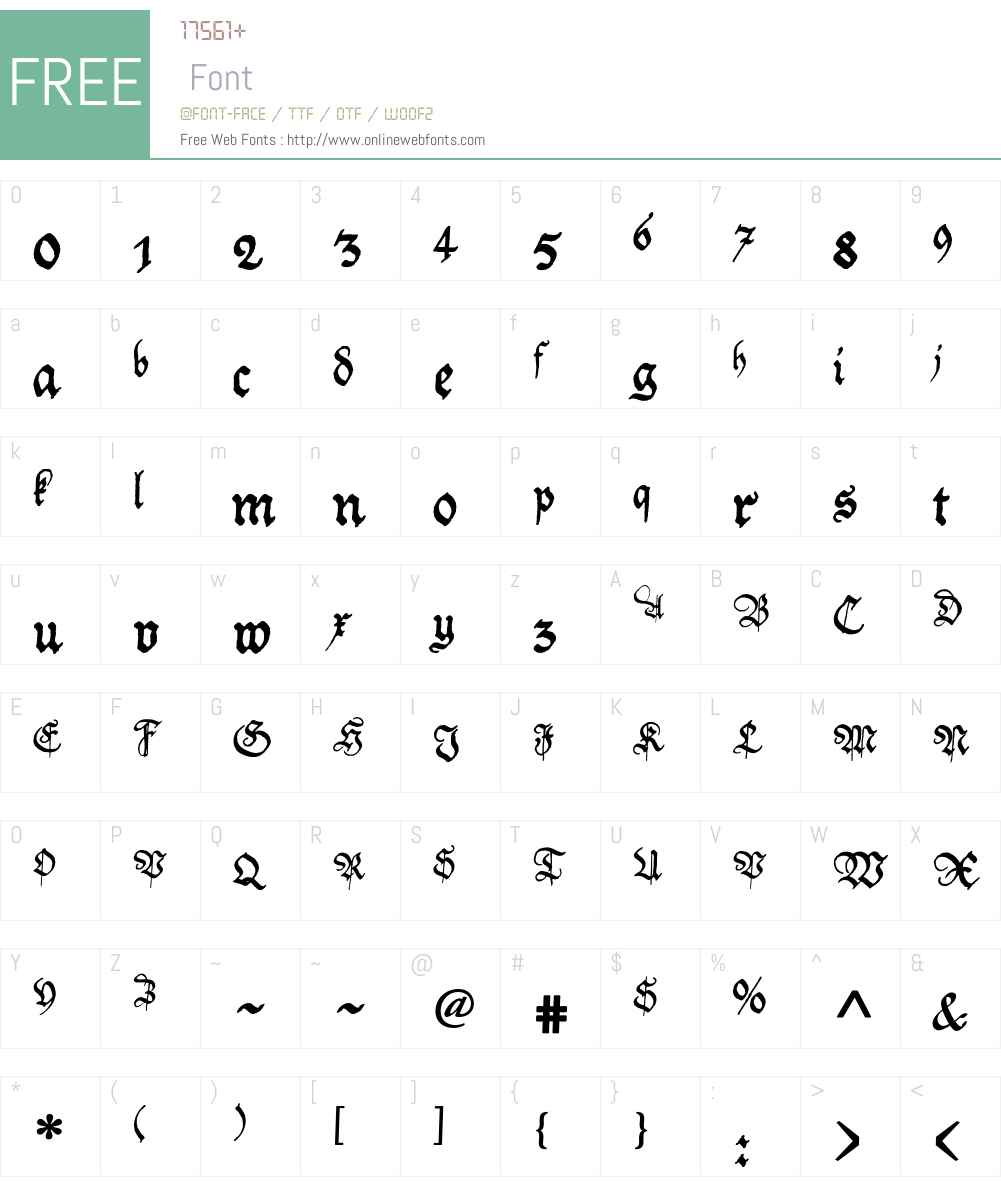 Friedolin Font Screenshots