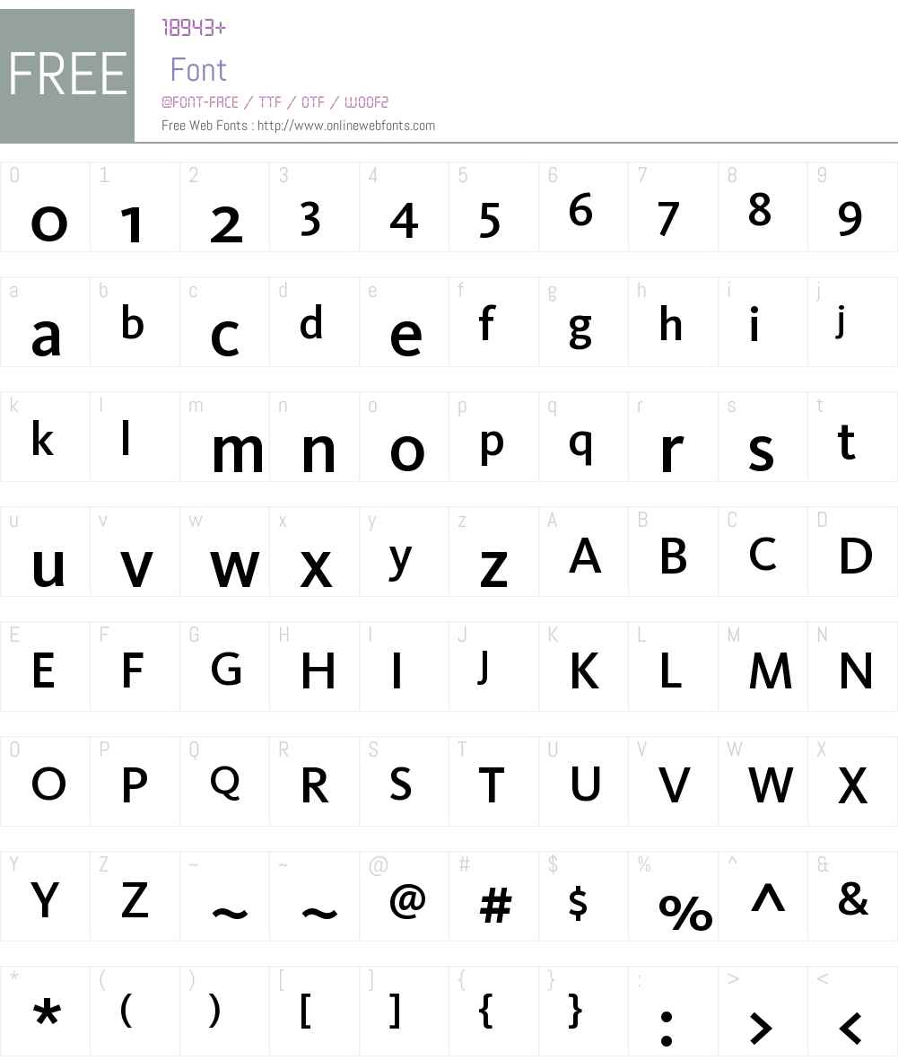 KievitCyr-Medium Font Screenshots