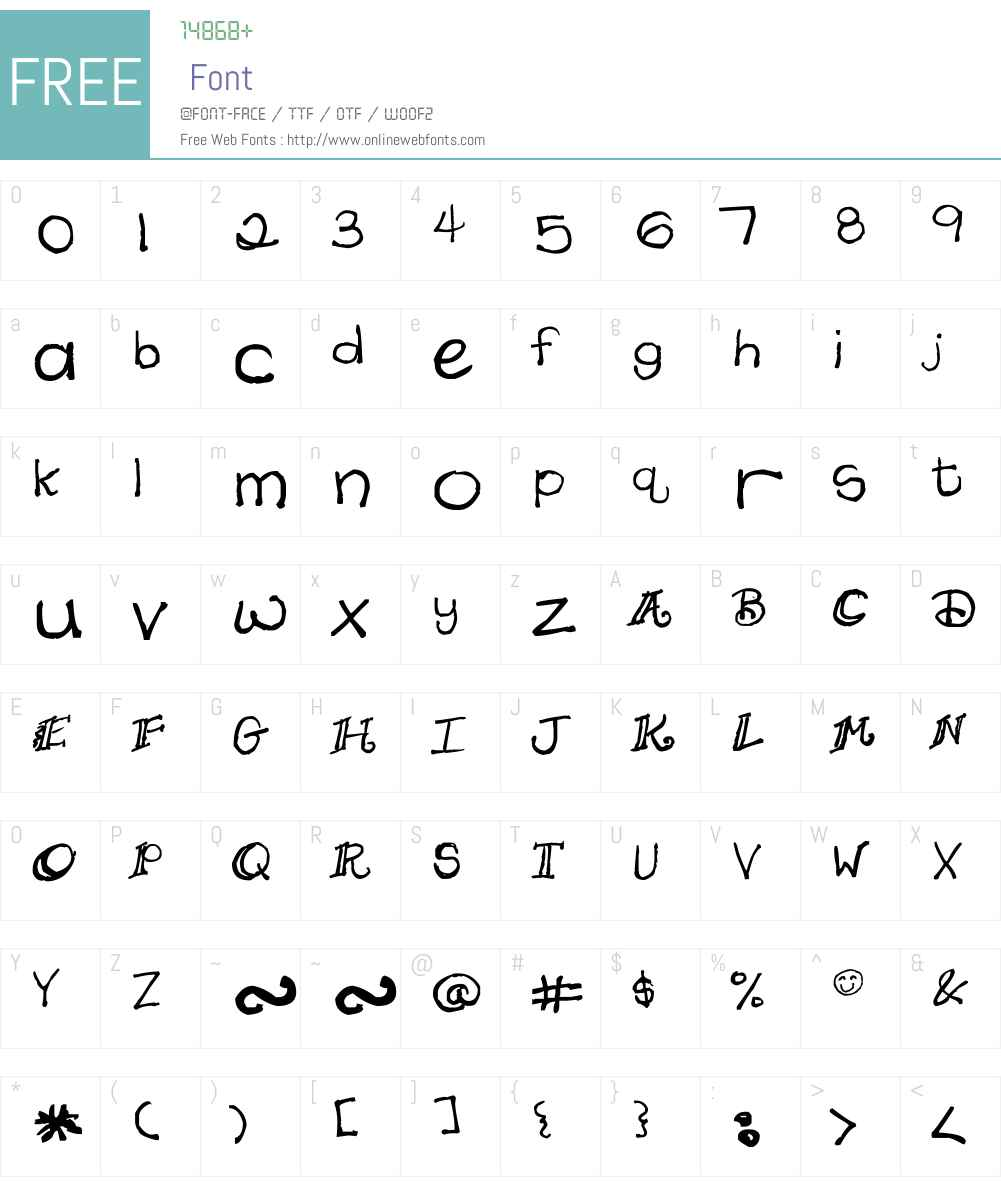Daydreamer Font Screenshots
