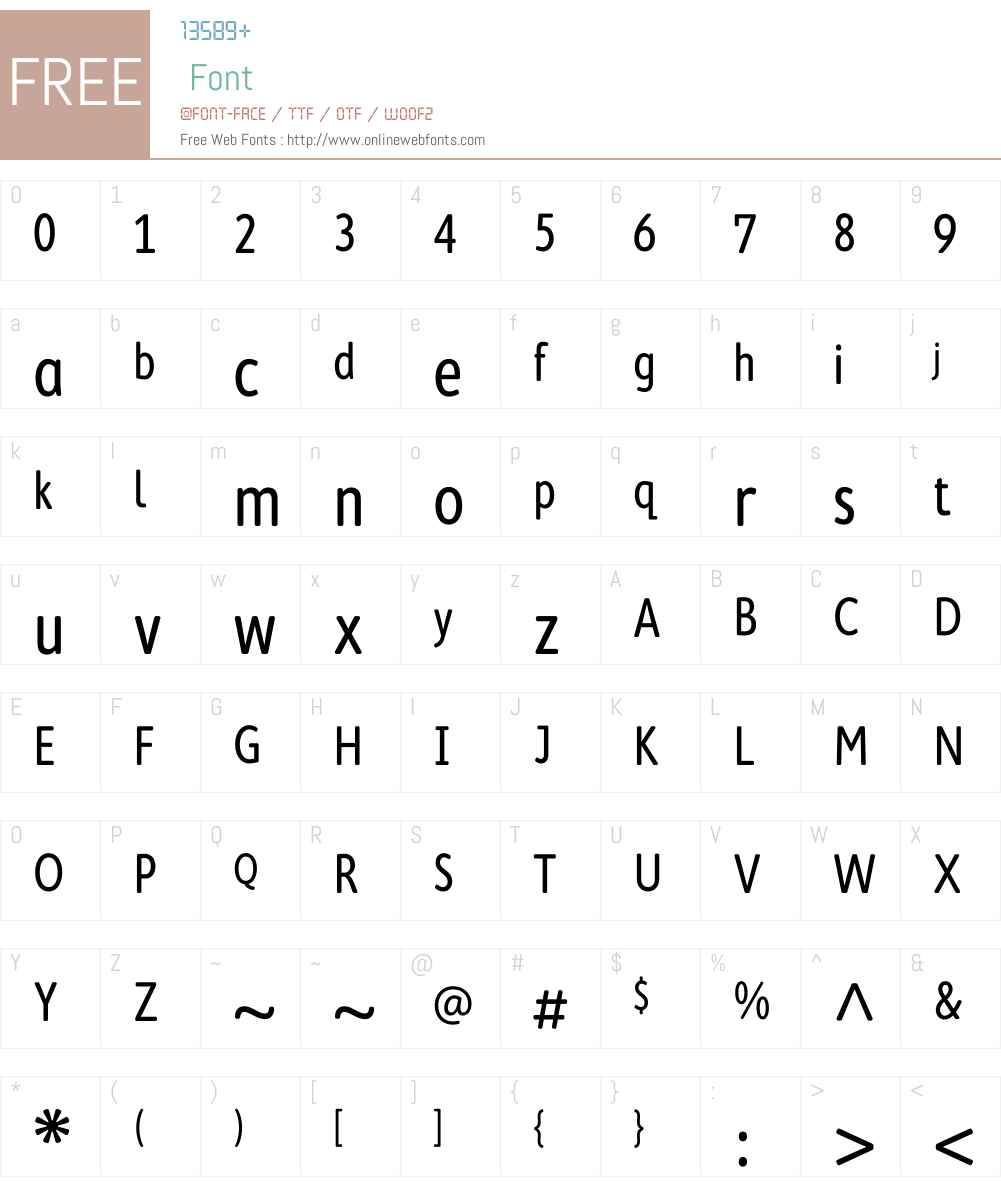 CambridgeRoundW01-Condensed Font Screenshots
