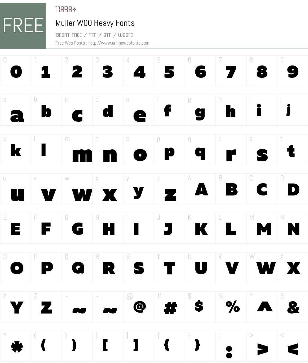 MullerW00-Heavy Font Screenshots