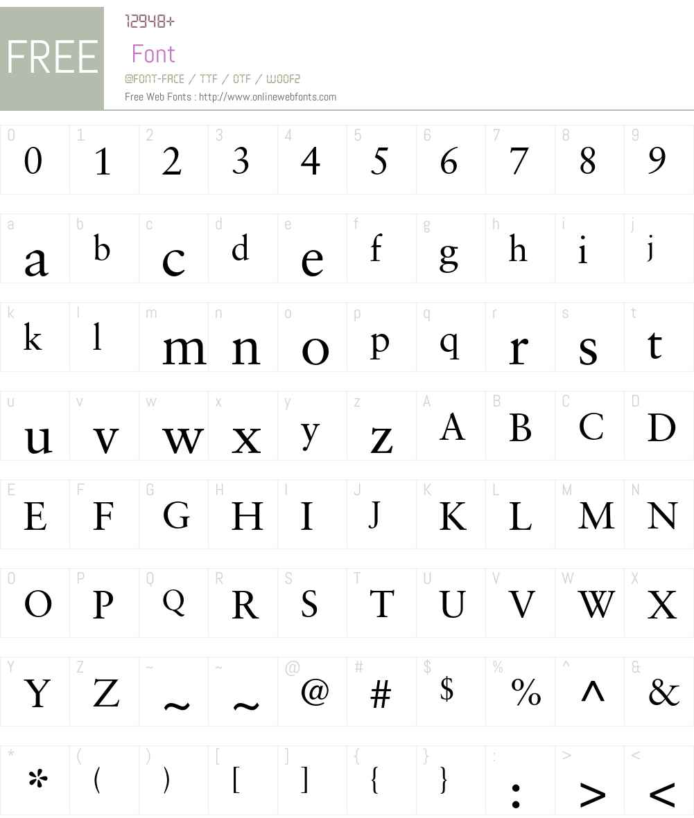 Sabon LT Std Font Screenshots
